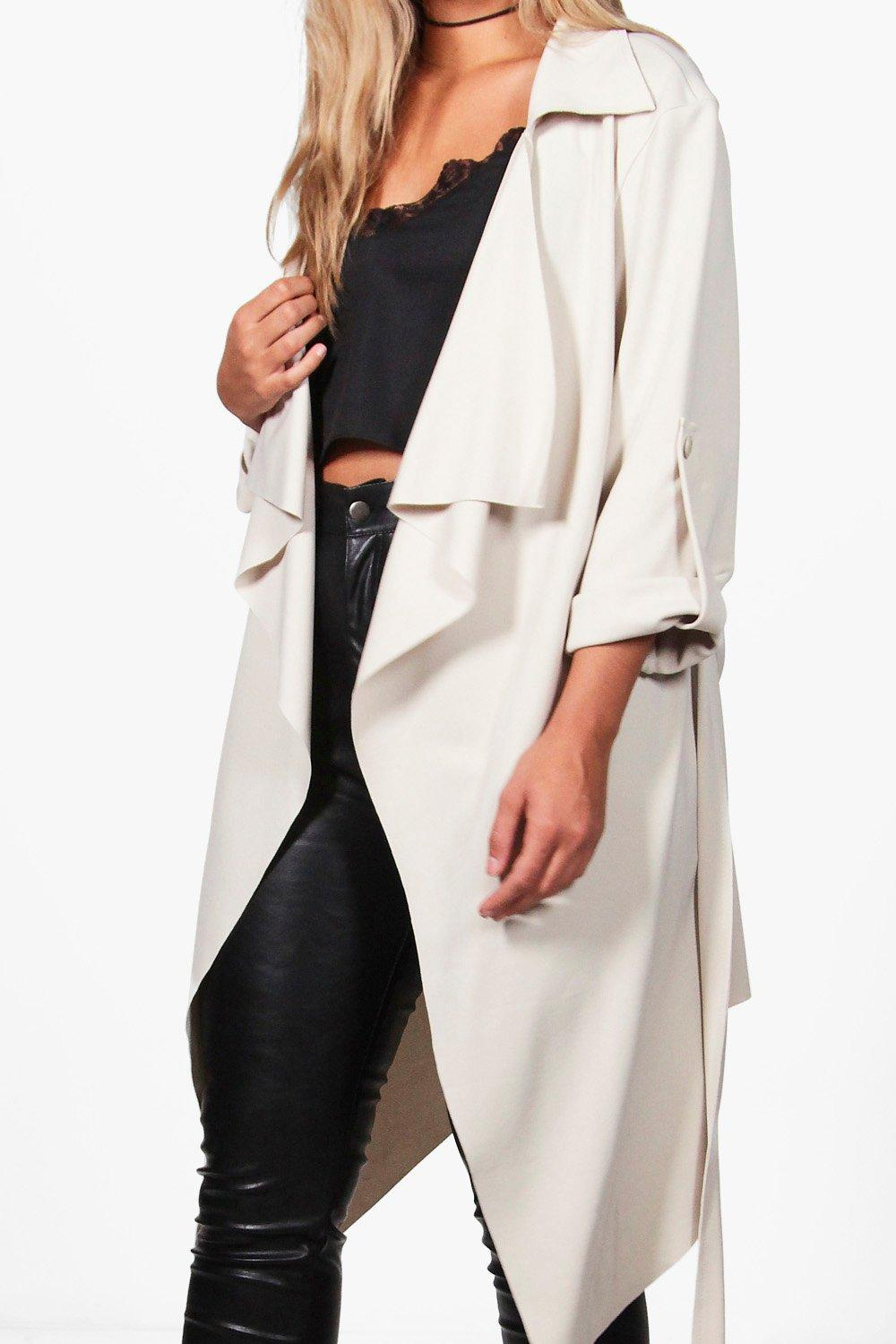 Waterfall stone Coat Plus Belted Daisy Duster 64c4aFq