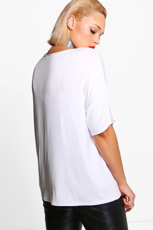 T 'Queen' grey Slogan Plus Shirt PpEn8qUwq