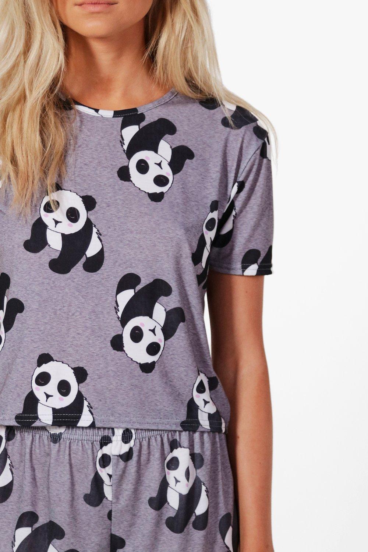 boohoo / Пижама с логотипом и пандами Petite