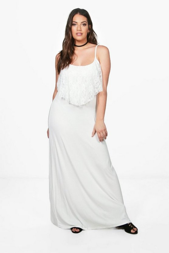 Plus Lorna Lace Ruffle Strappy Maxi Dress