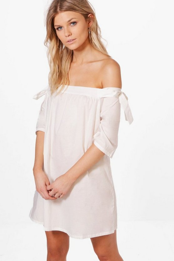 Womens Petite Maise Off The Shoulder Shift Dress