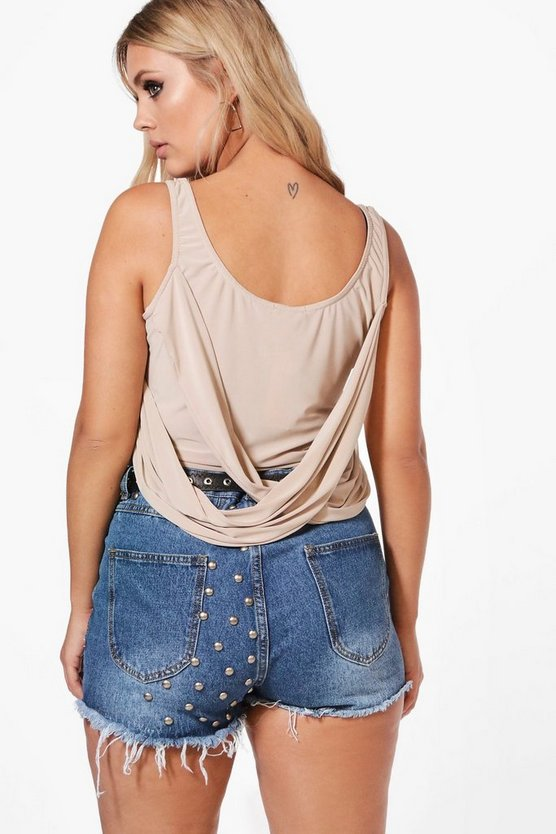 Plus Wrap Back Top