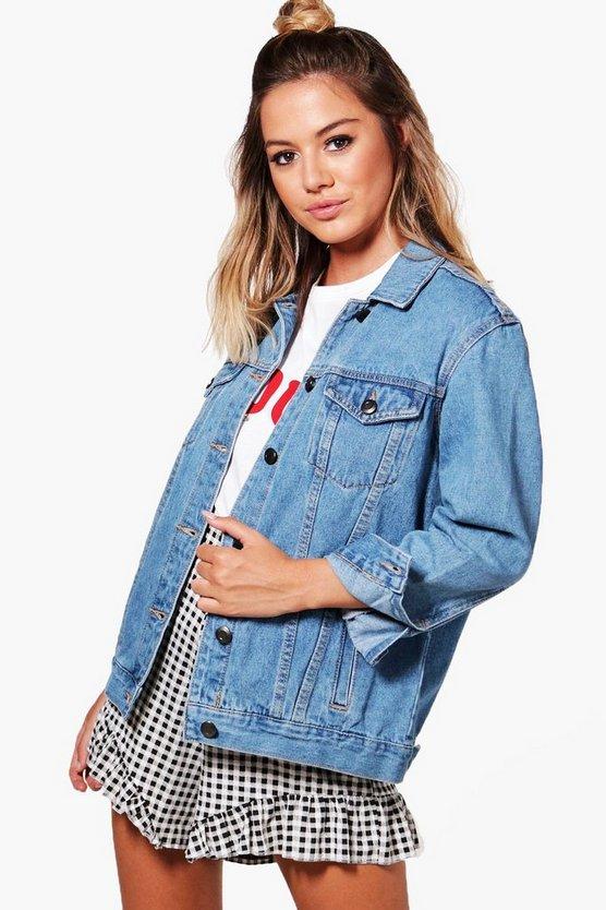 Petite Boyfriend Fit Denim Jacket