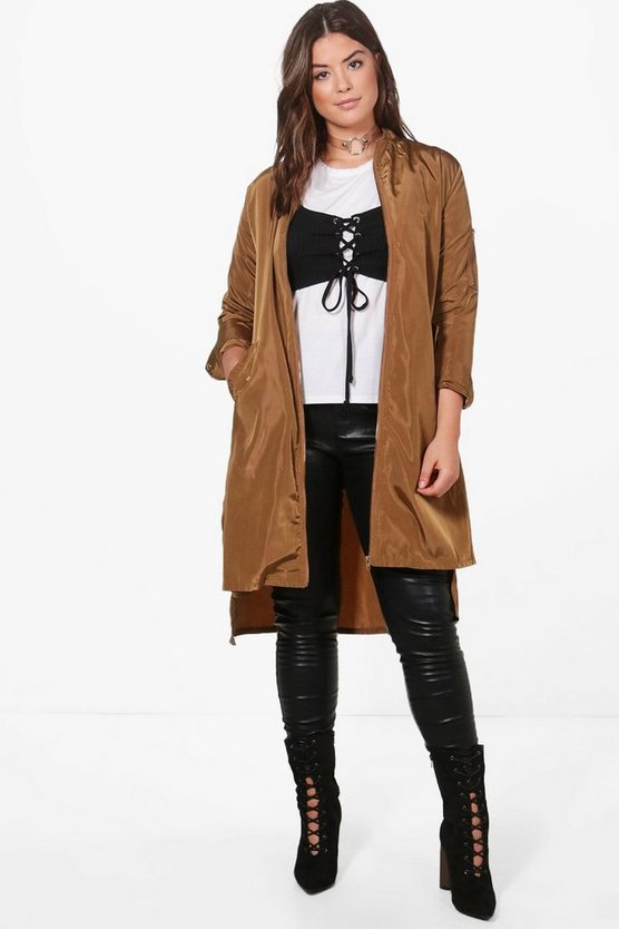 Plus Longline Zip Through Parka