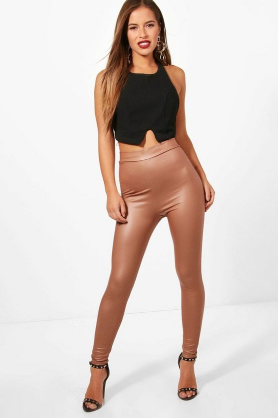 Petite Niamh Matte Leather Look Leggings