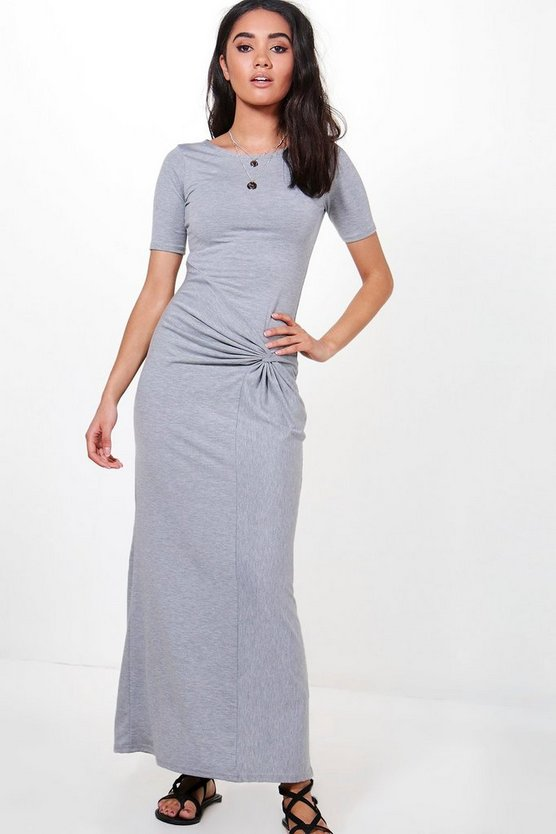 Petite Alice Knot Front Maxi Dress
