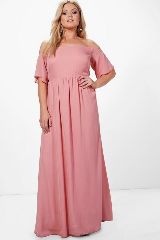 Plus Charlotte Off The Shoulder Maxi Dress