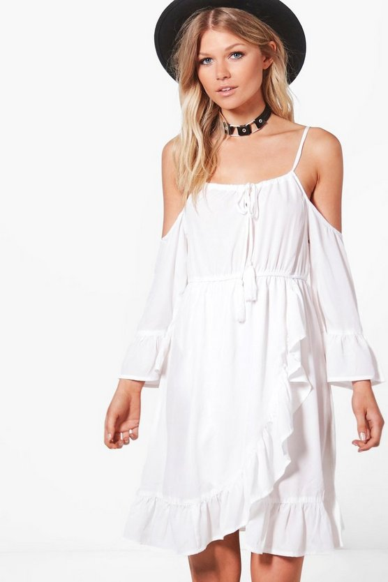 Petite Jess Halterneck Open Shoulder Sundress