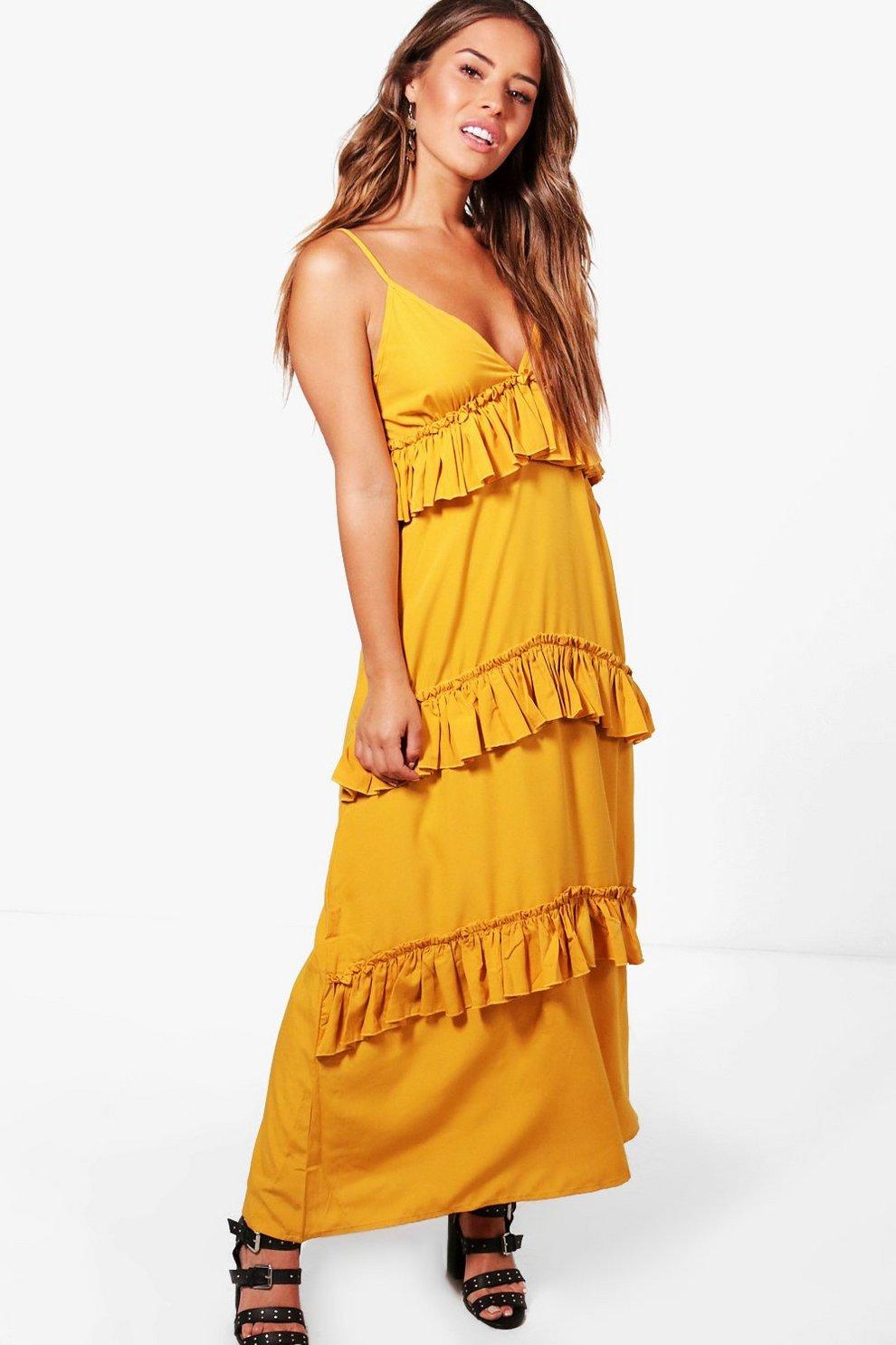 1c0616722cf Petite Ruffle Tier Maxi Dress