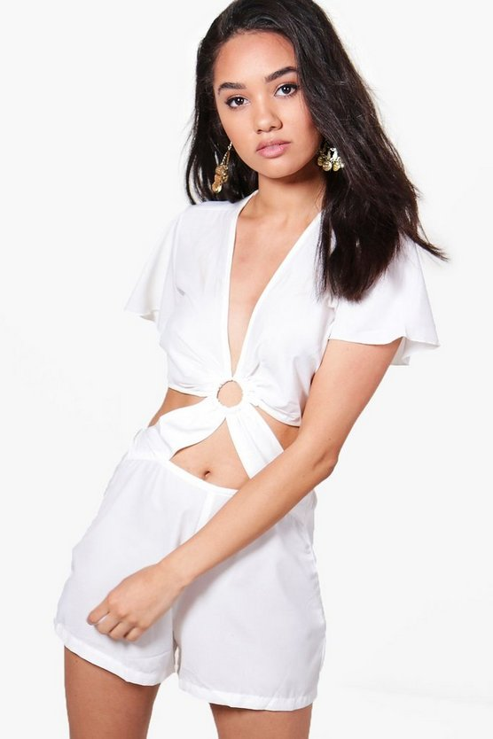 Petite Olivia Cut Out Detail Playsuit