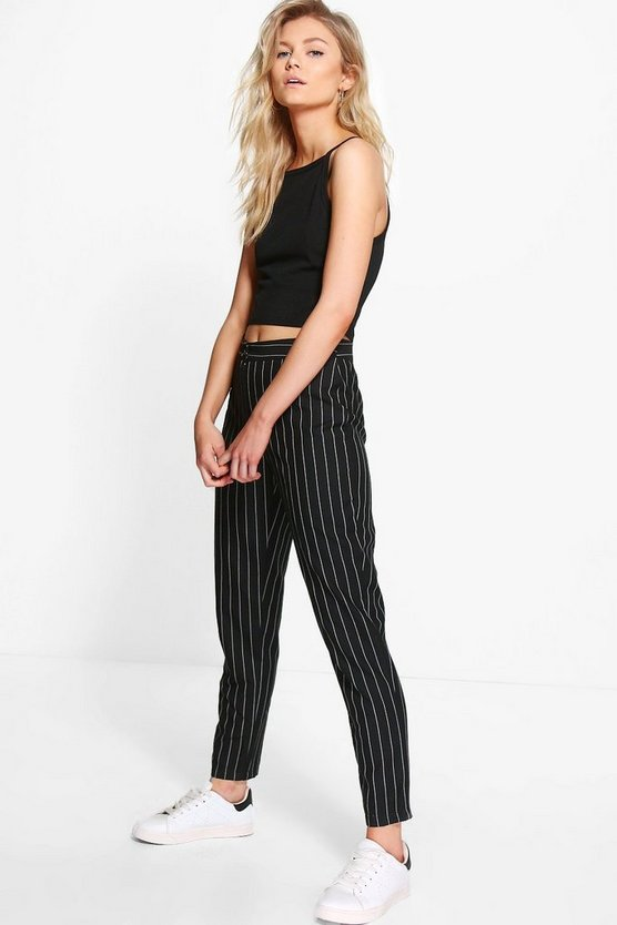 Petite Stripe Tapered Trouser