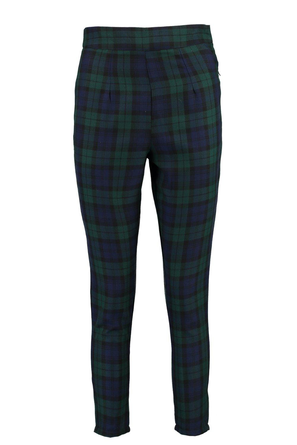 Petite multi Tapered Trouser Waisted Check High 8rwzX8