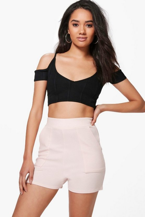 Petite High Waisted Pocket Shorts