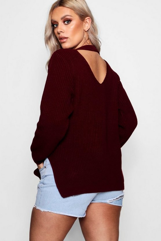 Plus  Choker Side Split Jumper