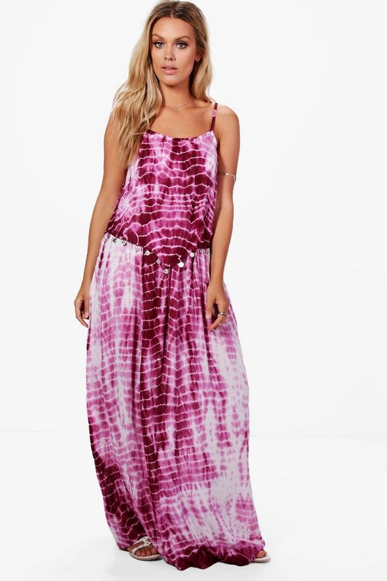 Plus Sasha Tye Dye Coin Maxi Dress
