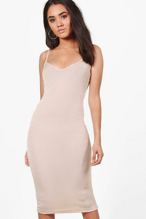 Petite Amelia Strappy Bodycon Midi Dress