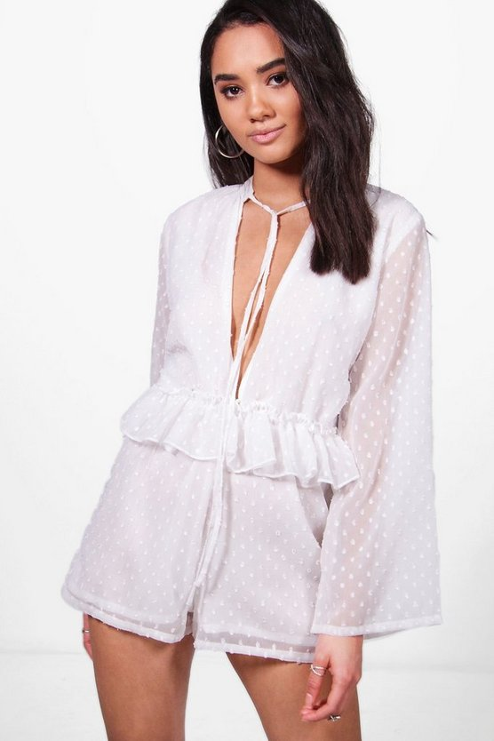 Petite Carly Ruffle Detail Playsuit