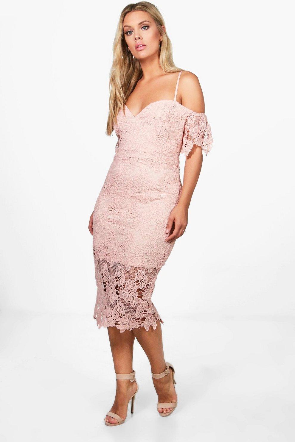 Plus Corded Lace Midi Dress  276c6b3af