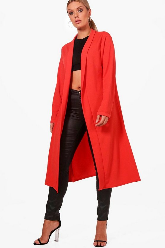 Plus Waterfall Duster Coat