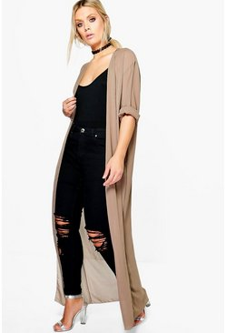Womens Mocha Plus  Chiffon Maxi Duster