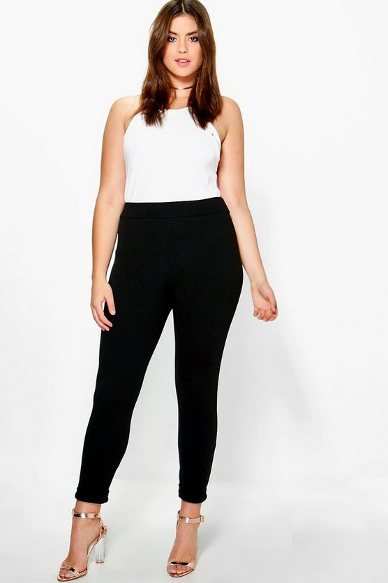 Black Plus  Turn Up Cuff Trouser