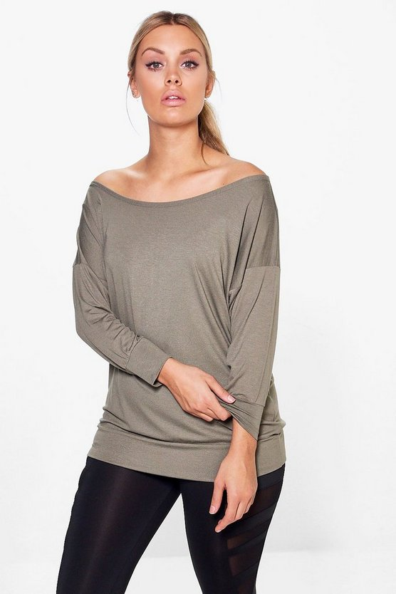 Plus Lisa Off The Shoulder Running Tee