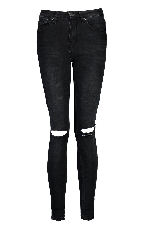 Skinny Jeans Waisted High black Petite 1gfEwHxqx