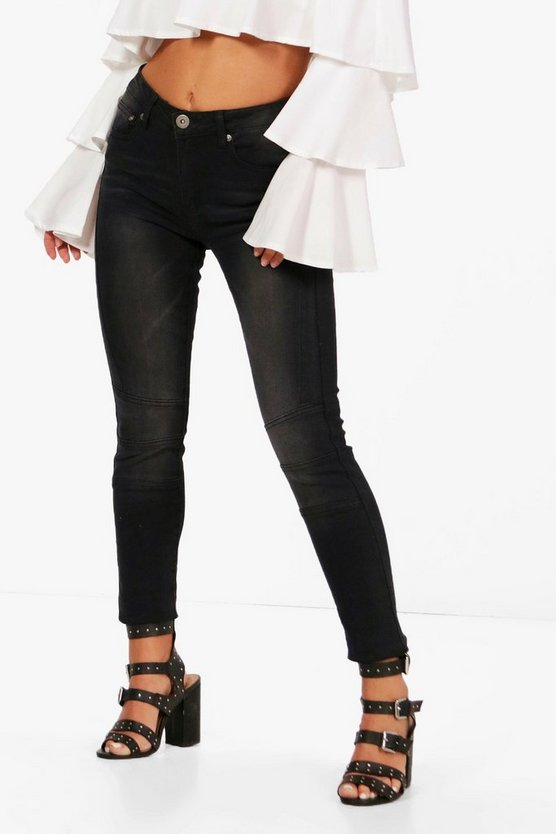 Petite Luci High Rise Distressed Skinny Jeans