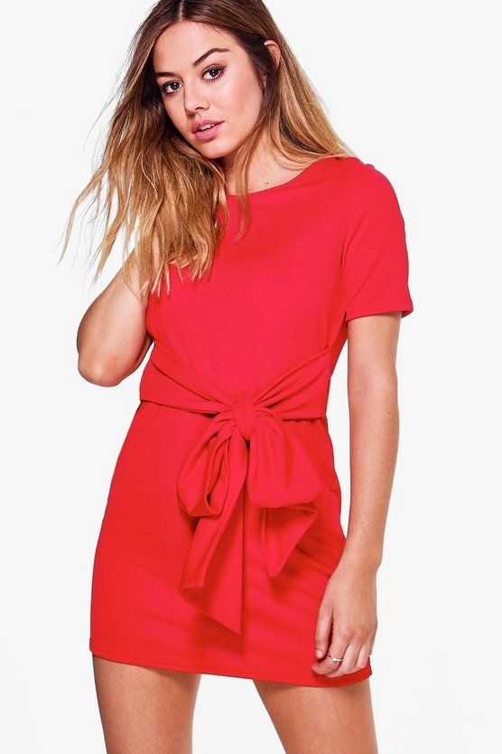 Petite Tie Waist Shift Dress