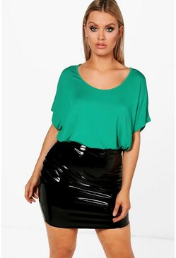 Womens Leaf green Plus Oversized T-Shirt