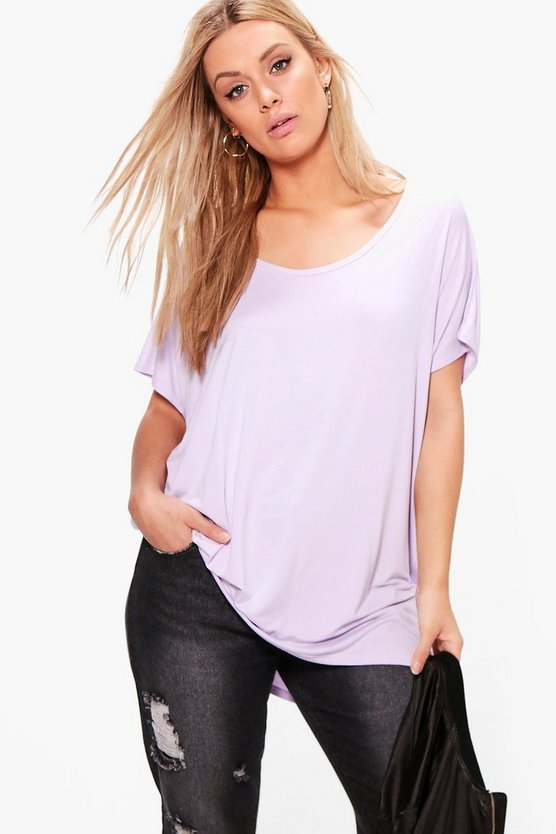 Lilas Plus Oversized T-Shirt