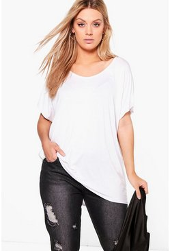 Womens White Plus Oversized T-Shirt