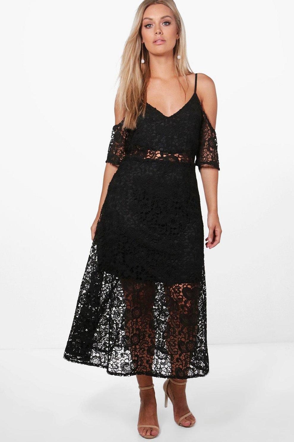 719e788d158 Plus Crochet Lace Premium Skater Dress