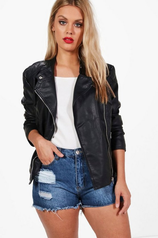 Plus Maisie PU Biker Jacket