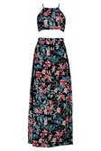 3c9a9d72fee ... Womens Black Petite Imogen Halter Neck Top Maxi Skirt Co-ord  alternative image ...
