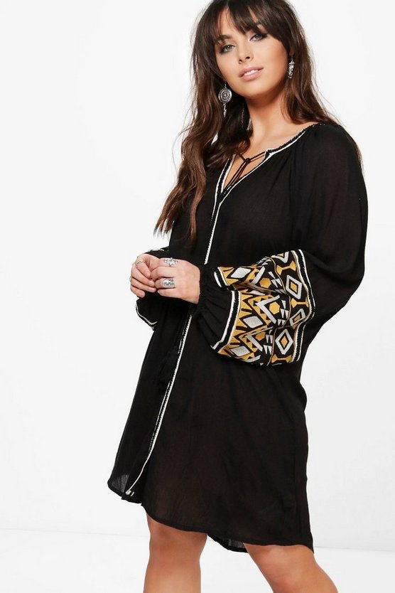 Plus Verity Embroidered Smock Dress