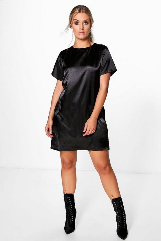 Plus Lara Satin Luxe Shift Dress