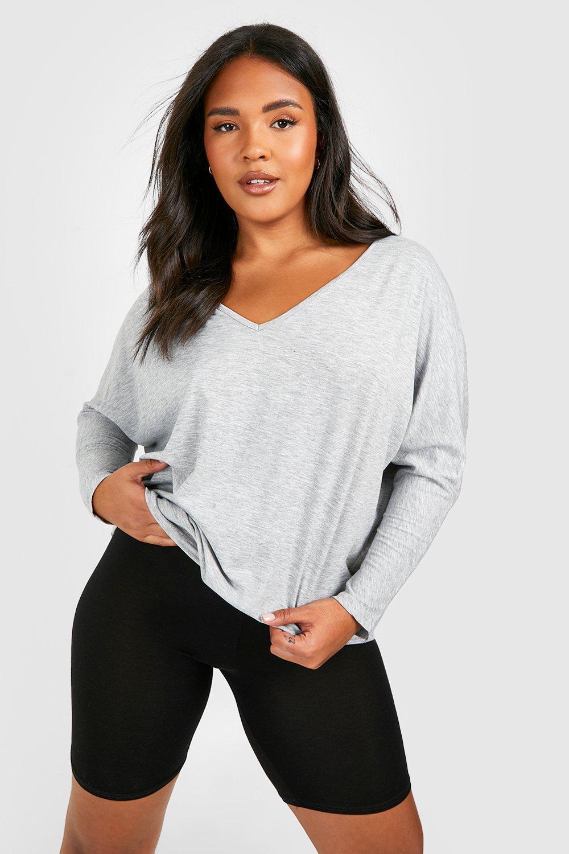 Plus Long Sleeve Basic T-Shirt 2