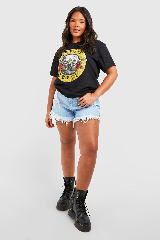 Shirt Guns Plus T N black Roses Slogan qgCXC6dw