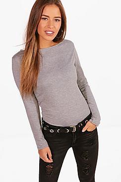 petite basic long sleeve top