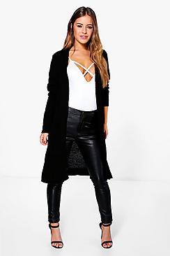 Petite  Midi Length Cardigan With Pockets