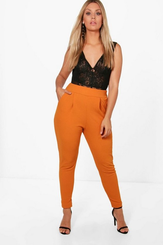 Womens Amber Plus Pleat Front Pants