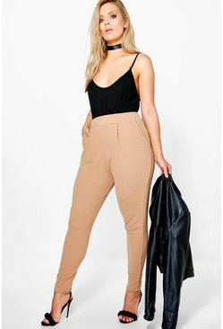 Camel Plus Pleat Front Pants