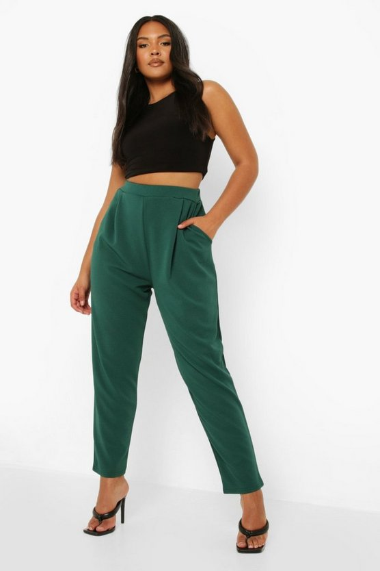Womens Evergreen Plus  Pleat Front Trouser