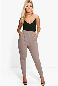 Womens Mocha Plus Pleat Front Pants