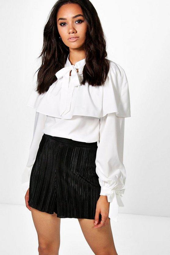 222e13c6e8f petite-melanie-tie-neck-ruffle-blouse by boohoo