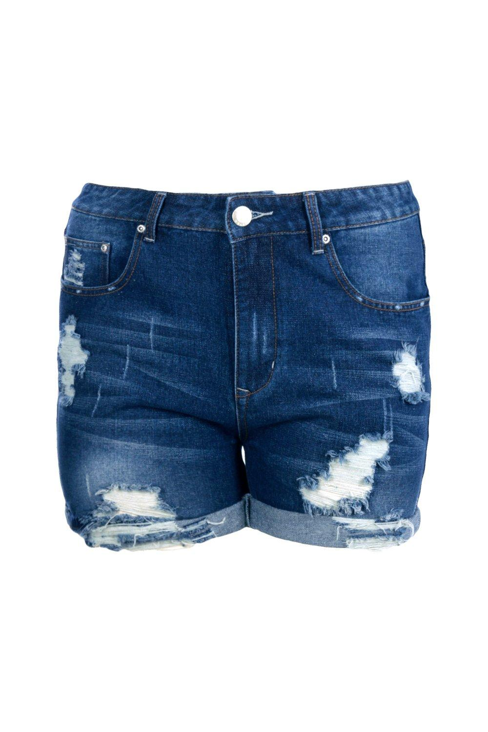 Up Short blue Turn Plus Denim a4xF7wqBC