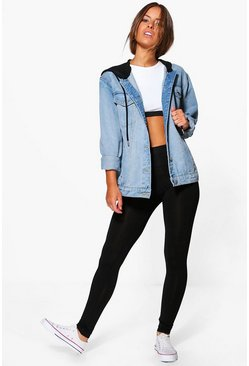 Dam Black Petite Basic High Waist Jersey Legging