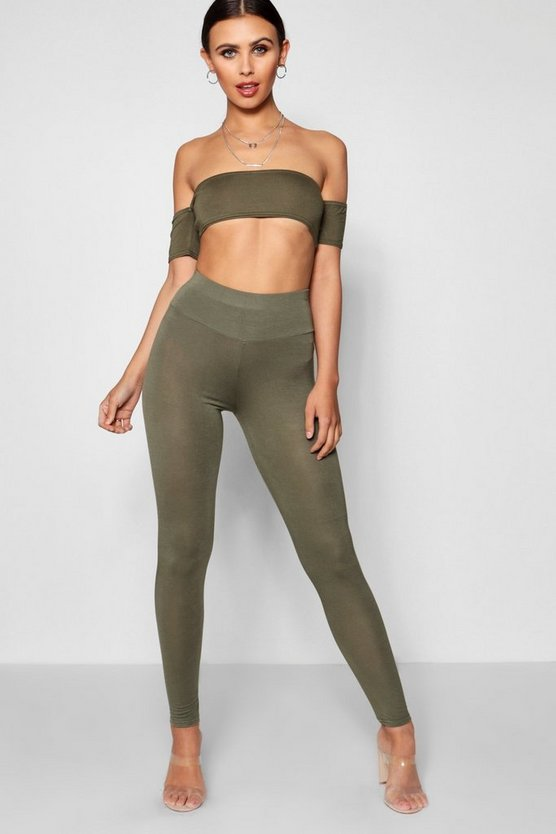 Petite Basic High Waist Jersey Legging