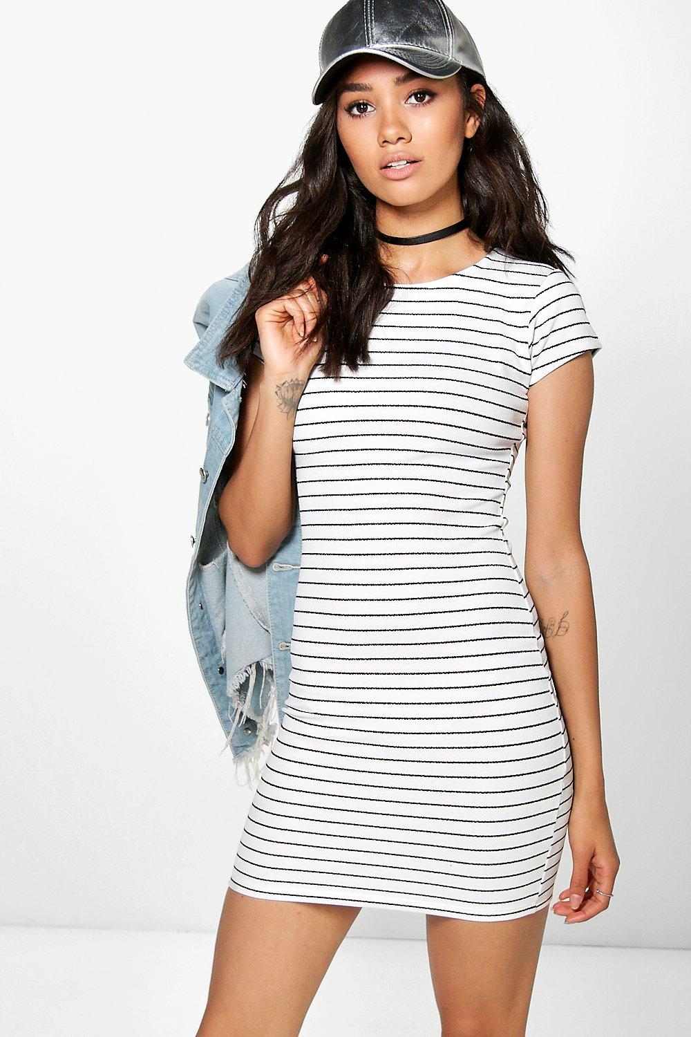 ceaebd4e73c ... Stripe Bodycon Dress. Hover to zoom